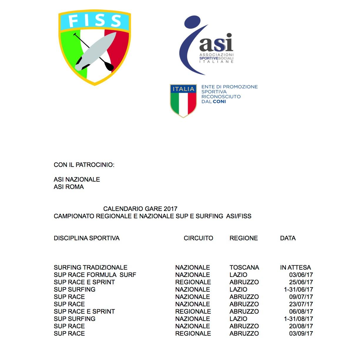Calendario FISS