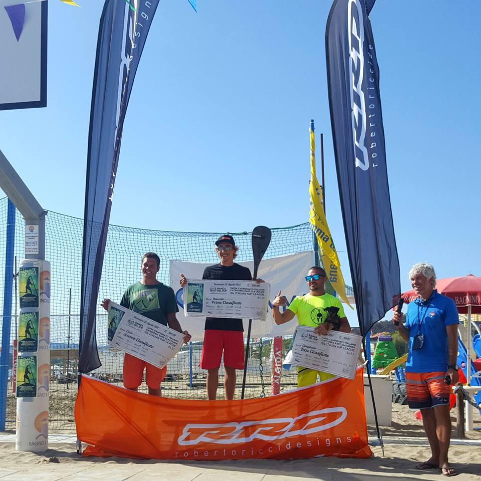 Categoria Race 12.6 uomini: 1. Francesco Mazzei, 2. Jacopo Giusti, 3. Cristian Bottausci