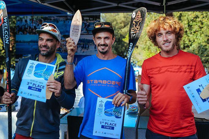 Il podio maschile: Nika, Marconi, Bartl