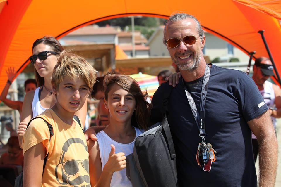 Anche Roberto Ricci con la famiglia fa gli onori di casa...