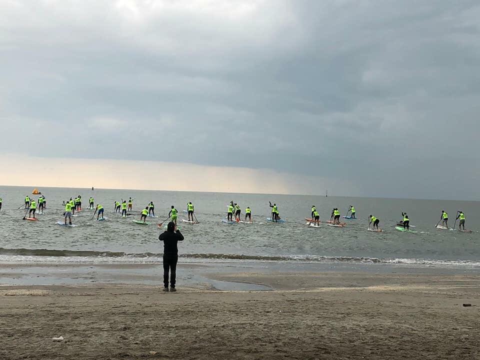 La partenza della Spring Sup Race